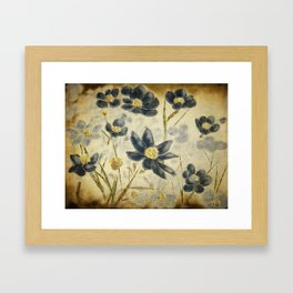 Blue Daisies Framed Art Print