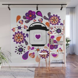 Floral Instant Pressure Pot Wall Mural