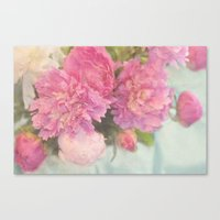 peonies Canvas Prints featuring Peonies by Lisa Argyropoulos