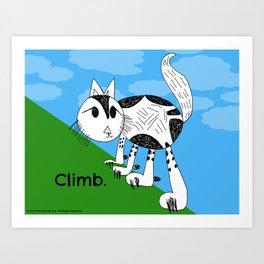Climb High Kitty Child's Illustration Art Print