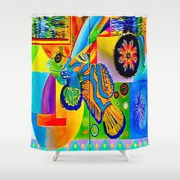 Vincent Green Mandarin Gobi Shower Curtain