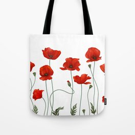 Poppy Stems Tote Bag