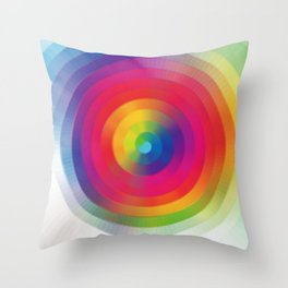 Color Sprial Throw Pillow