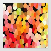 confetti Canvas Prints featuring Confetti by Rosie Brown