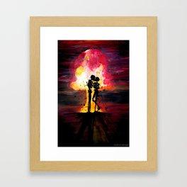 Atomic Kiss Framed Art Print