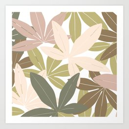 Camouflage green leaves Art Print