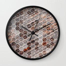Hexagons - Wood Wall Clock