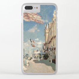 Claude Monet - Hotel Des Roches Noires, Trouville Clear iPhone Case