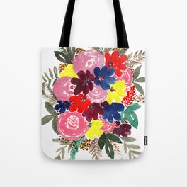Floral Bouquet Beauty Tote Bag