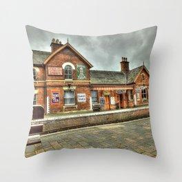 Bewdley Heritage Railway Station Throw Pillow