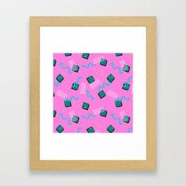 Memphis Pattern #6 Framed Art Print