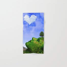 Mother Nature Smiling Hand & Bath Towel