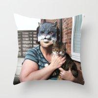 tina Throw Pillows featuring Tina/Tabitha by Kalilibird