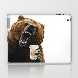 """"""" Grizzly Mornings """" give that bear some coffee Laptop & iPad Skin"""