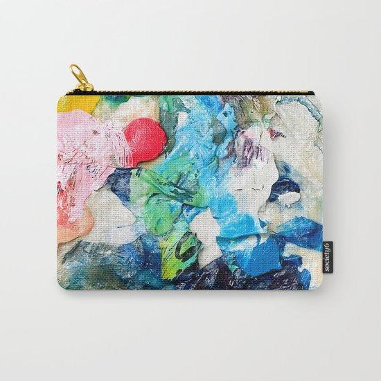 Rainbow Earth Paint Moon Love Carry-All Pouch