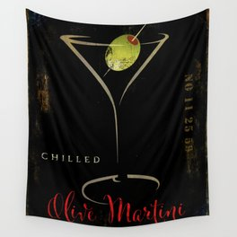 Olive Martini Wall Tapestry