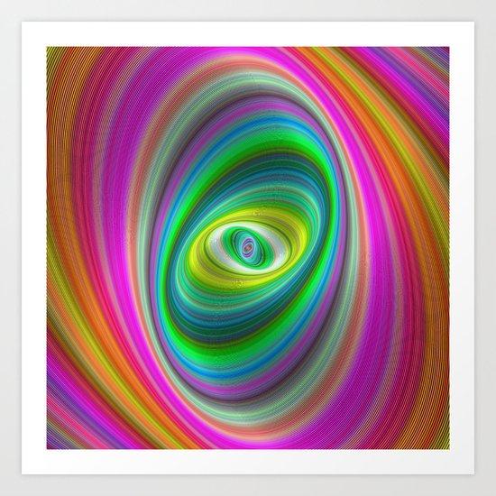 Elliptical magic Art Print