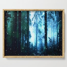 Fireflies Night Forest Serving Tray