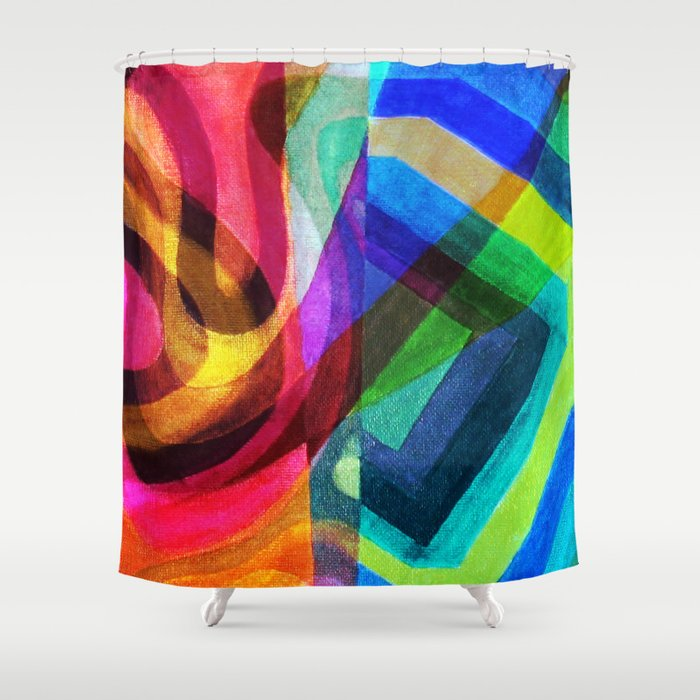 La dualité apollinienne-dionysienne Shower Curtain