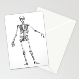 No body to dance with - skeleton Stationery Cards