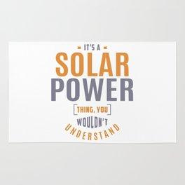 Solar Power Thing Rug