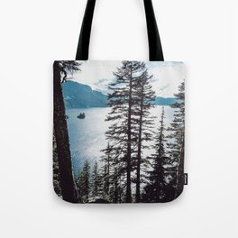 Mountain Lake Retreat Tote Bag