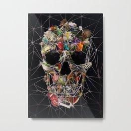 Fragile Skull Metal Print