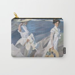 Joaquín Sorolla y Bastida - Strolling along the Seashore Carry-All Pouch