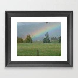 New Zealand Rainbow Framed Art Print