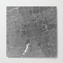Hempstead USA Modern Map Art Print Metal Print