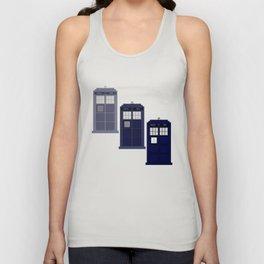 The Materializing TARDIS Unisex Tank Top