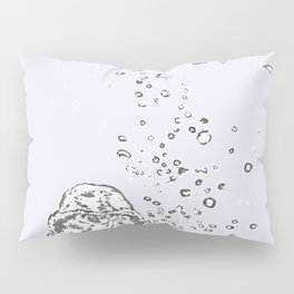 Two Tailed Duck and Jellyfish Lavender Pillow Sham