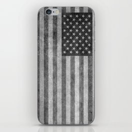 Stars and Sripes in retro style grayscale iPhone Skin