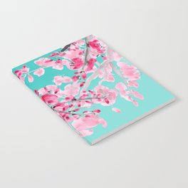 Cherry Blossom Aqua Notebook