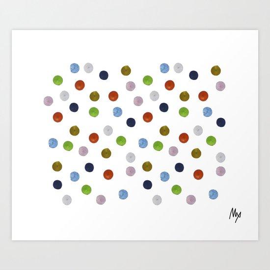 Pinpoint Dots Art Print
