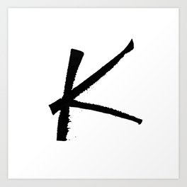 Letter K Ink Monogram Art Print