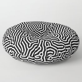 diffuse reaction black white 2019 Floor Pillow