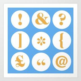 Caslon Type Specimen: Punctuation Art Print