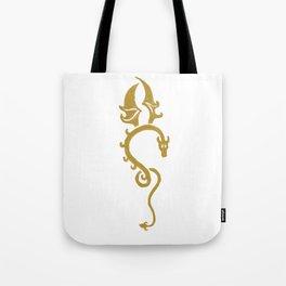 Dragon jaune Tote Bag
