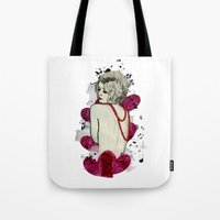naked Tote Bags featuring Naked by Melania B