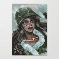 the winter soldier Canvas Prints featuring Winter Soldier by Soggykitten™
