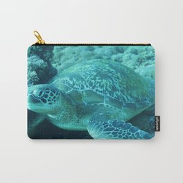 Smooth green turtle Carry-All Pouch