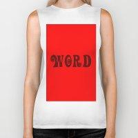 word Biker Tanks featuring WORD by LOOSECANNONGEAR