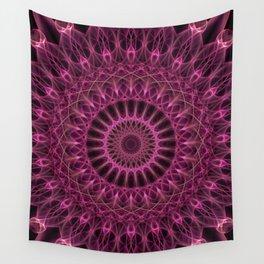 Dark pink mandala Wall Tapestry