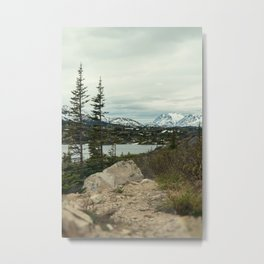Yukon Mountains Metal Print