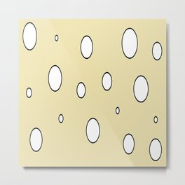 Swiss Cheese Metal Print