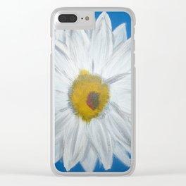 Egyptian Blue Daisy Clear iPhone Case