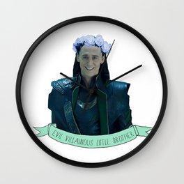 Loki - Flower Crown Wall Clock