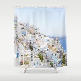 Fira, Santorini Greece Shower Curtain
