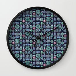 Ernst Haeckel Ascidiae Sea Squirts Teal on Purple Wall Clock